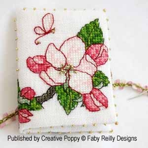 click here to view larger image of Apple Blossom Needlebook (chart)