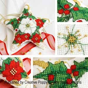 click here to view larger image of Christmas Rose Star Ornament (chart)