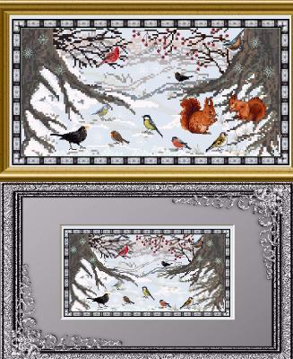 click here to view larger image of Winter Guests in a Snowy World (chart)