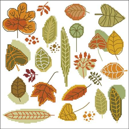 click here to view larger image of Serene Autumn Leaves (chart)