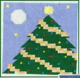 click here to view larger image of Christmas Lap Quilt  (chart)