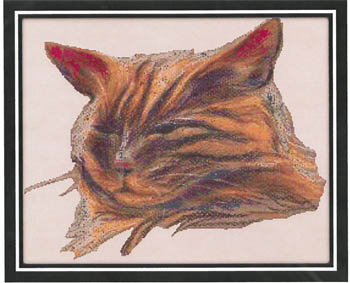 click here to view larger image of Tabby Cat Portrait (chart)