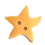 click here to view larger image of Golden Star  Button (Medium) (buttons)