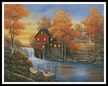 click here to view larger image of Autumn Sunset At The Old Mill  (John Zaccheo) (chart)