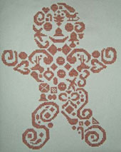click here to view larger image of Tribal Gingerbread Man (chart)