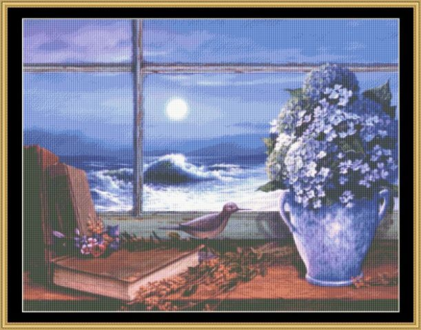 click here to view larger image of Hydrangea Moon (chart)