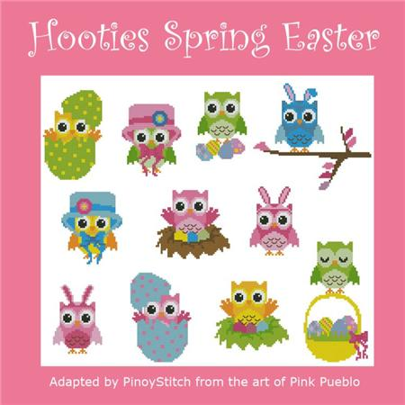 click here to view larger image of Hooties Spring Easter (chart)