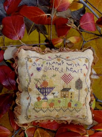 click here to view larger image of Grateful Heart Pin Cushion (counted cross stitch kit)