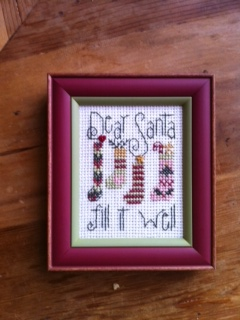 click here to view larger image of Dear Santa (counted cross stitch kit)