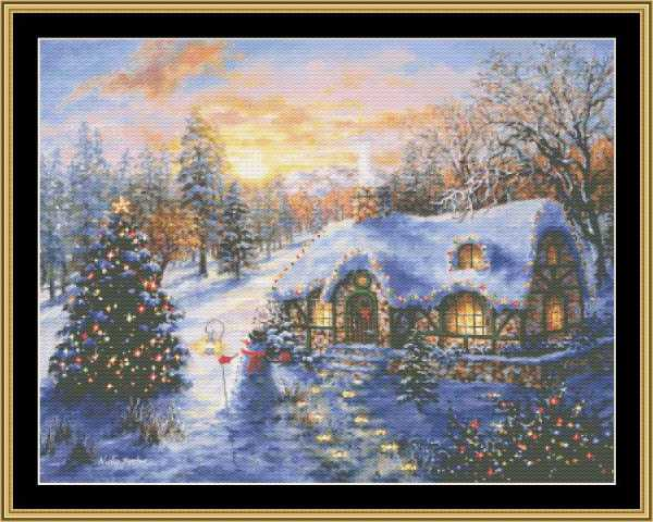 click here to view larger image of Christmas Cottage (chart)