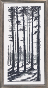 click here to view larger image of GrayBlack Trees  (counted cross stitch kit)