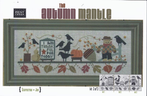click here to view larger image of Autumn Mantle - Scarecrow and Joe (counted cross stitch kit)