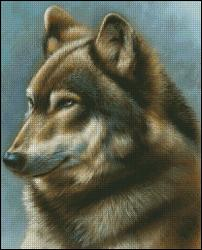 click here to view larger image of Wolf Portrait (chart)