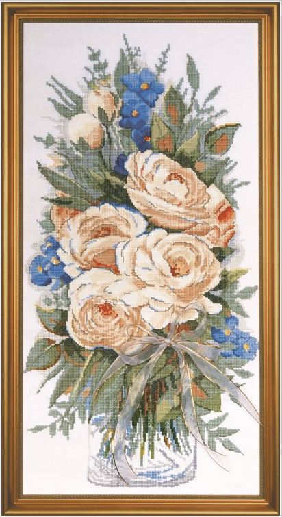 click here to view larger image of White Roses (counted cross stitch kit)