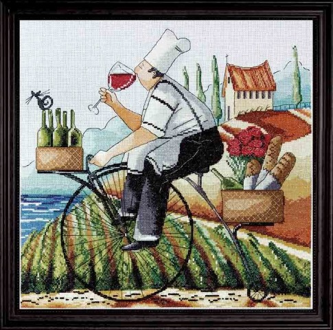 click here to view larger image of Fine Wine (counted cross stitch kit)