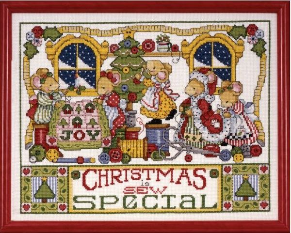 click here to view larger image of Christmas is Sew Special (counted cross stitch kit)