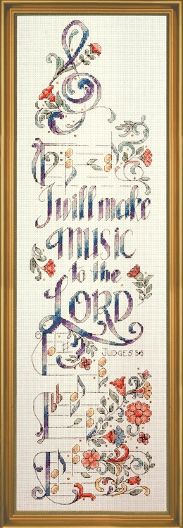click here to view larger image of Make Music (counted cross stitch kit)