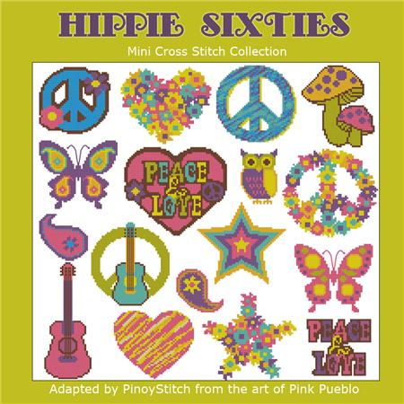 click here to view larger image of Hippie Sixties Mini Collection (chart)