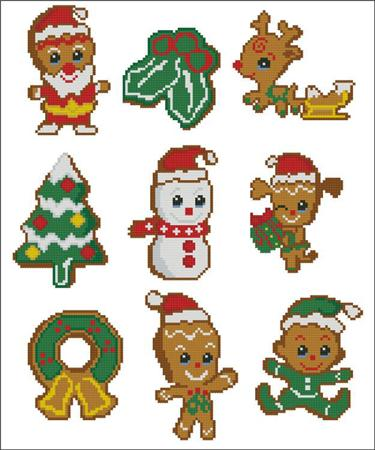 click here to view larger image of Gingerbread Cookies (chart)