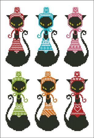 click here to view larger image of Black Cat Knits Bookmark (chart)