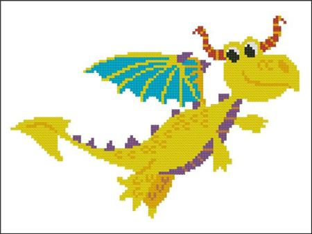 click here to view larger image of Happy Dragon Yellow (chart)