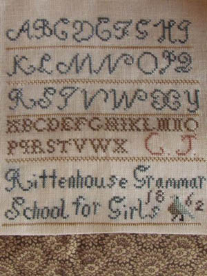 click here to view larger image of Clarissa Jones 1862 Sampler (chart)