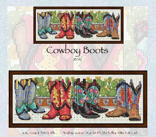 click here to view larger image of Cowboy Boots (chart)