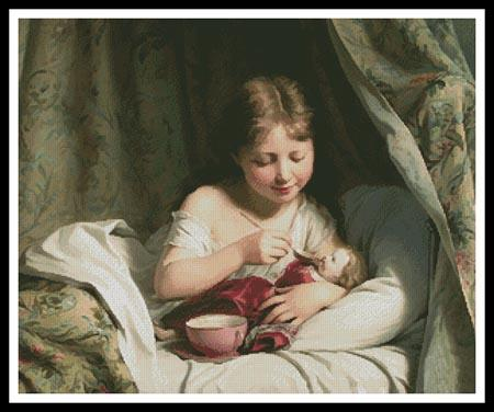 click here to view larger image of Girl Feeding her Doll (chart)