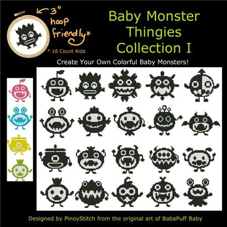 click here to view larger image of Baby Monster Thingies Collection I (chart)
