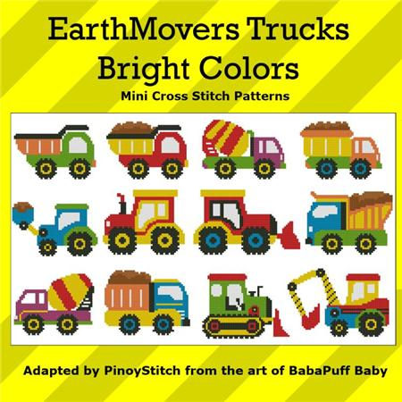click here to view larger image of Earthmovers Trucks Bright Colors (chart)