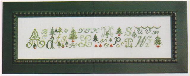click here to view larger image of ABCs & Christmas Trees (chart)