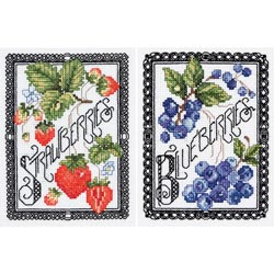 click here to view larger image of Blackwork Berries (counted cross stitch kit)