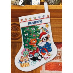 click here to view larger image of Pet Stocking (counted cross stitch kit)