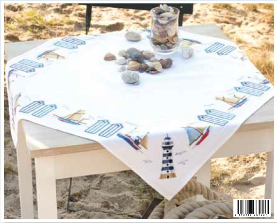 click here to view larger image of Coastline Tablecloth (counted cross stitch kit)