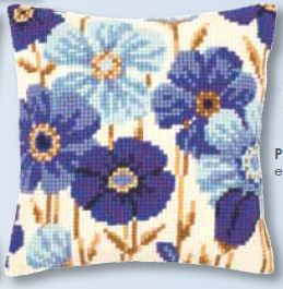 click here to view larger image of Anemone Cushion (counted cross stitch kit)