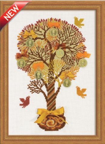 click here to view larger image of Tree of Money (counted cross stitch kit)