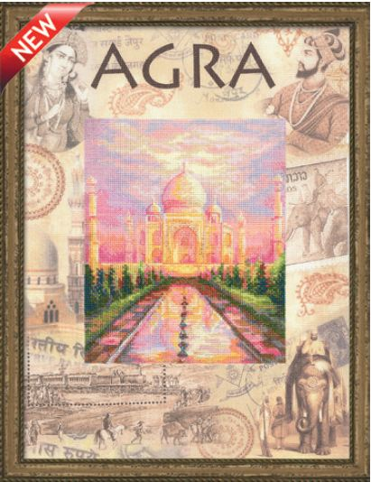 click here to view larger image of Agra - Cities of the World (counted cross stitch kit)