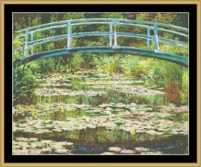 click here to view larger image of Japanese Footbridge - Monet (chart)