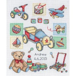 click here to view larger image of Boy Birth Record (counted cross stitch kit)
