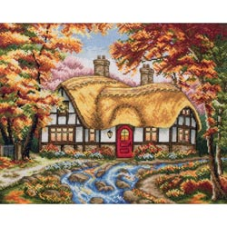 click here to view larger image of Autumn Cottage (counted cross stitch kit)