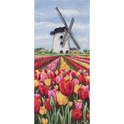 click here to view larger image of Dutch Tulips Landscape (counted cross stitch kit)