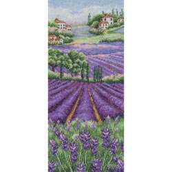 click here to view larger image of Provence Lavender Landscape (counted cross stitch kit)