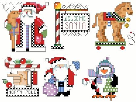 click here to view larger image of Checkered Ornaments Set 2 (chart)