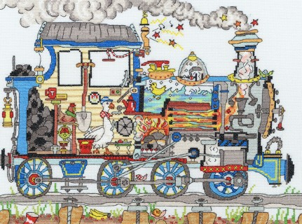 click here to view larger image of Cut Thru Steam Train   (counted cross stitch kit)