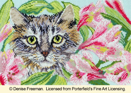 click here to view larger image of Cat's Whiskers 2 (counted cross stitch kit)