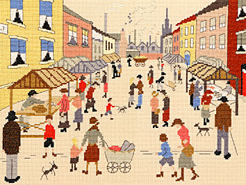 click here to view larger image of Friday Market, The (counted cross stitch kit)