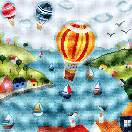 click here to view larger image of Balloons (counted cross stitch kit)