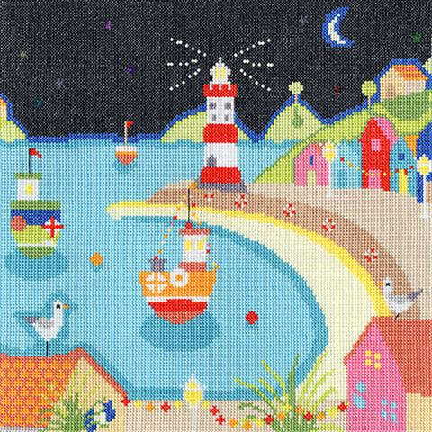 click here to view larger image of Harbour Lights (counted cross stitch kit)