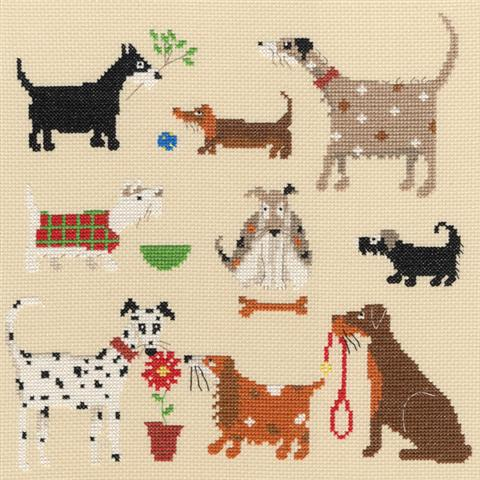 click here to view larger image of 9  Dogs (counted cross stitch kit)