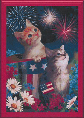 click here to view larger image of Patriotic Kittens (chart)